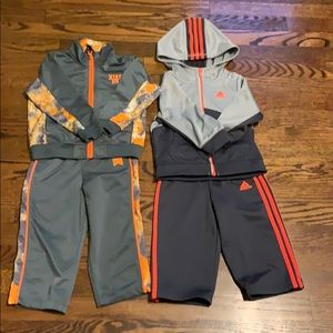 Nike sweatsuit and adidas sweatsuit both for $35